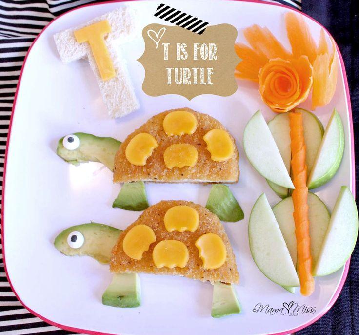 T is for turtle #kids #eat #kidseating #nice #tasty #food #kidsfood #desser
