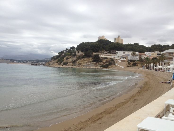 sweet little beach with typical spanish lunch restaurants