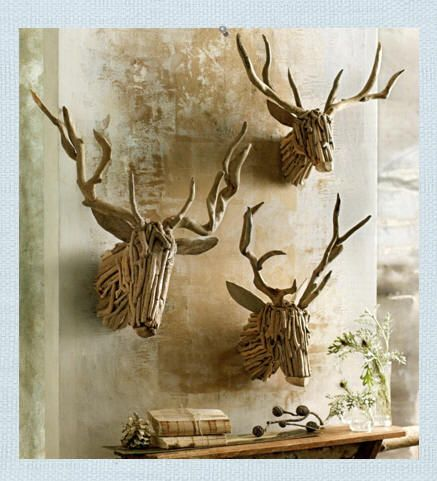 Driftwood reindeers - so much better than those white plastic looking ones.