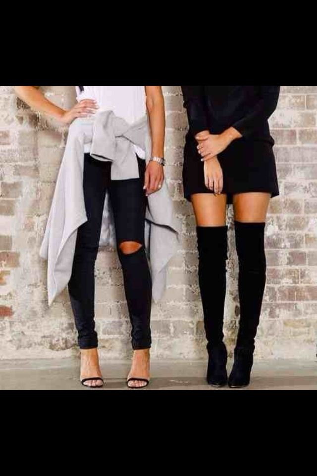 I want those thigh high boots!!!!!'
