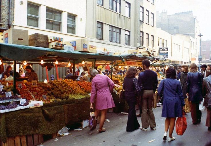 Berwick Street, SOHO, LONDON, 1973.