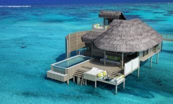 Laamu Water villa med pool på Six Senses Laamu, Maldiverne