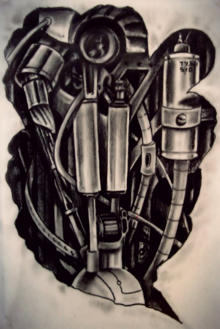 biomech sketch by karlinoboy on DeviantArt