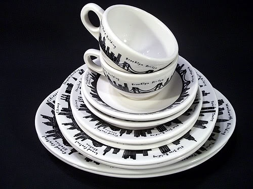Sold fishs eddy 212 new york skyline pattern dinnerware for Fishs eddy dinnerware