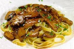 Veal Marsala On A Bed Of Fettucini