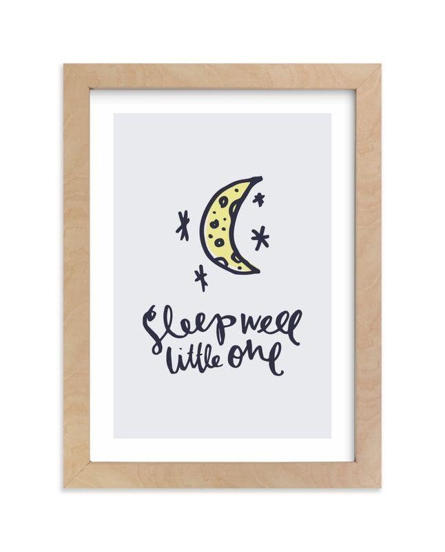 Sleep Well Little One Children S Art Print Children S Art Print Art Wall Kids Better Sleep