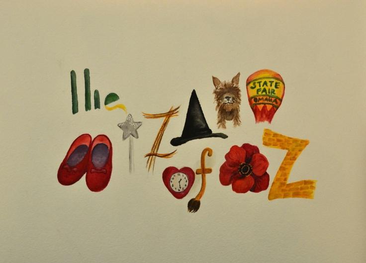 The Wizard of Oz : Illustrative Movie Titles. $20.00, via Etsy.