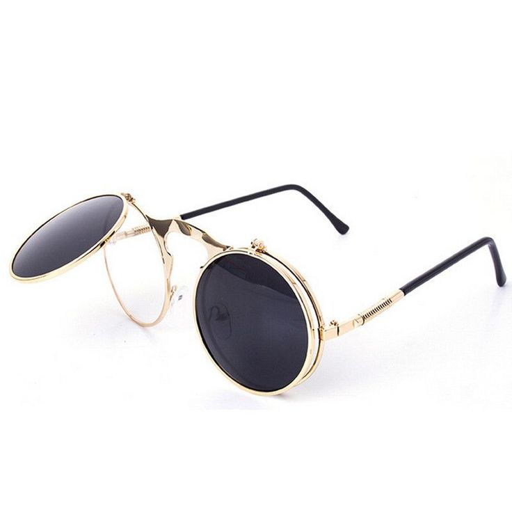 Retro Steampunk Googles Vintage Round Flip Up Sunglass Women Mens Circle Clip On Sunglasses Metal Punk Sun Glasses Oculos  #fashionable #repost #igfashion #haute #musthave #fun #styleinspiration #outfitoftheday #fashioninsta #fashionblogger