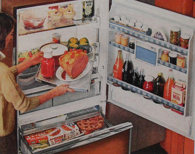 60s REFRIGERATOR Vintage Kitchen Advertisement Photo