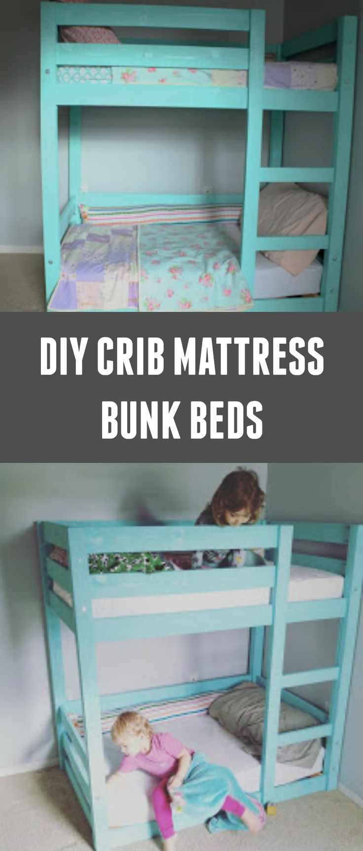 Reader project - bunk beds using crib mattresses for toddlers