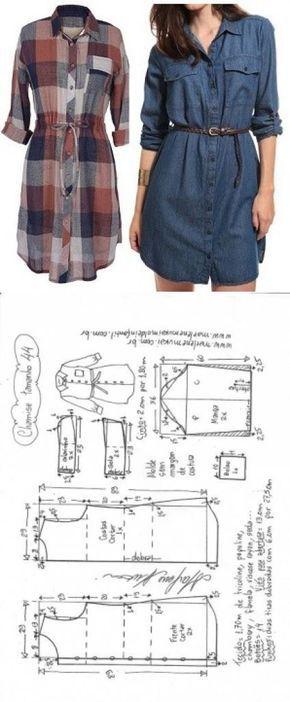 Camisão chemise   DIY – molde, corte e costura – …