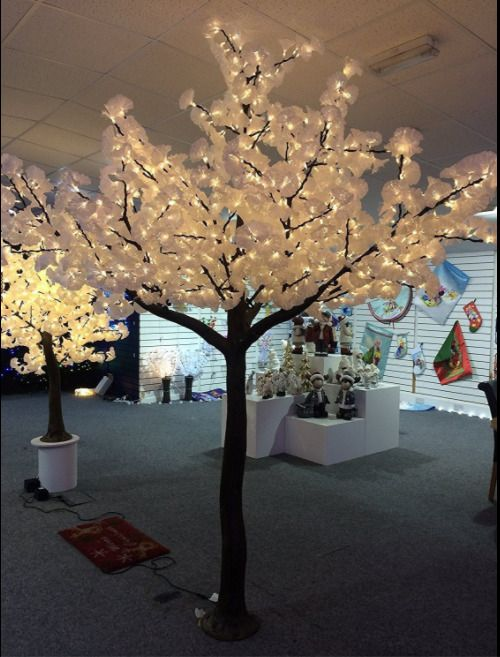 Holiday Artificial Christmas Tree Magnolia Blossom Warm White LED 10 FT Winter #HolidayArtificialChristmasTree