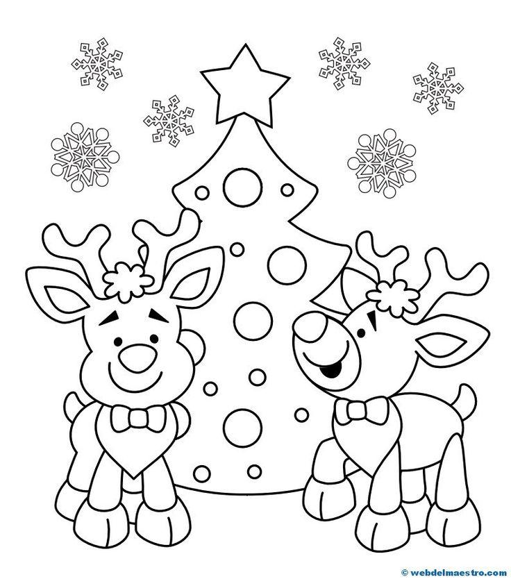 Dibujo De Navidad Para Colorear Postales De Navidad Para Imprimir - Dibujos-para-colorear-de-navidad-para-imprimir