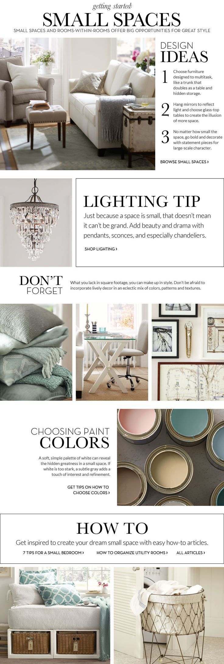 Small Spaces Inspiration & How to Decorate Small Spaces | Pottery Barn #smallroomdesignhowtodecorate