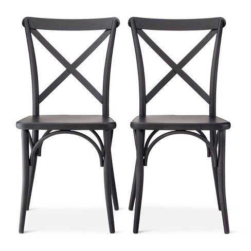 Complete your bistro with these French Metal Bistro Chairs from The Industrial Shop™. With decorative accents along the legs of the chairs and crisscross backs, they'll fit right in with your kitchen. Pair the chairs with a circular table or a small dining table to add the finishing touch to your space.