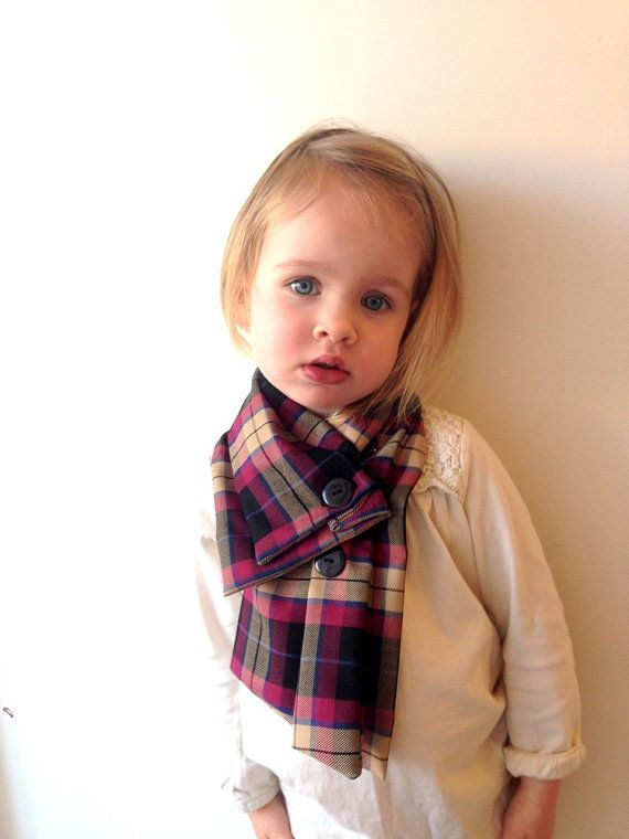 Baby scarf toddler scarf plaid scarf toddler by ThisisLullaby