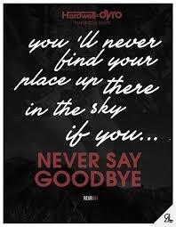 NEVER SAY GOODBYE <3 HARDWELL & DYRO