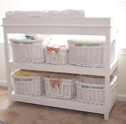 DIY for simple changing table; send this to dad, he can make one for my nephew!