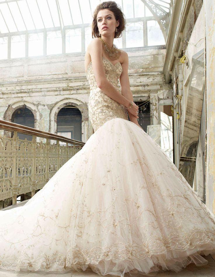 57 Best Lazaro Images On Pinterest Short Wedding Gowns