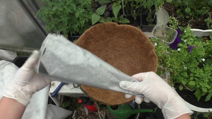 Подвесные корзины! Секрет выращивания растений в корзинах  Чтобы грунт н...