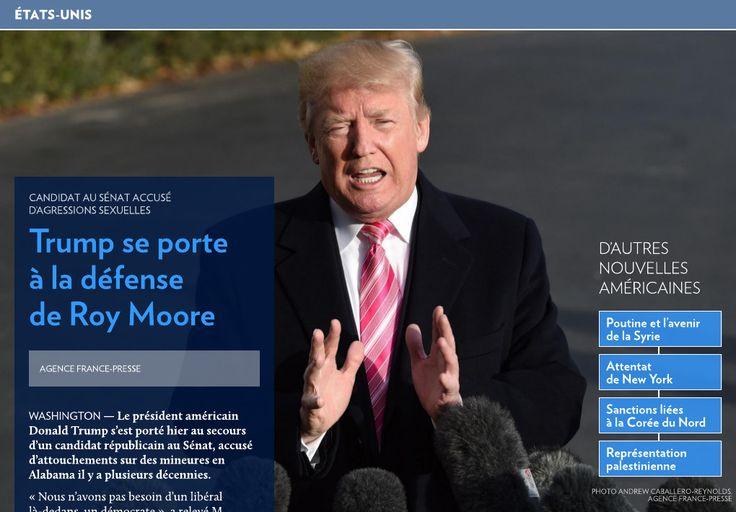Trump se porte à la défense de Roy Moore - La Presse+