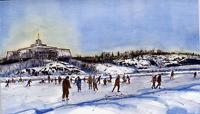 Mid-Winter Afternoon by Oryst Sawchuk    (Ramsey Lake Skate Path near Science North, Greater Sudbury, Ontario)