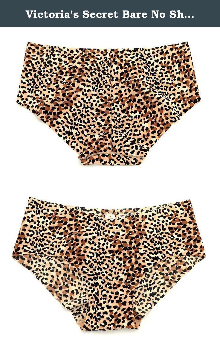 victoria's secret bare no show hiphugger panty, large, animal print