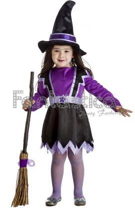 disfraz de bruja para niña, disfraz de brujita para niña, disfraces infantiles para Halloween, Carnaval - Tienda Esfantastica