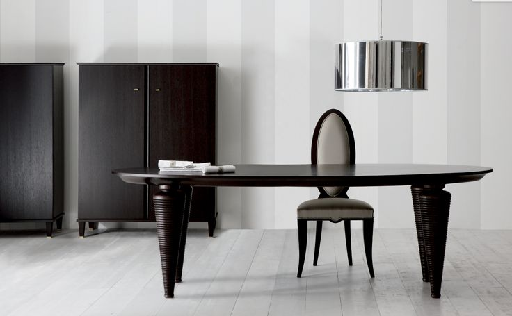 Fidelia Dining Table, Pierre Dining Chair, Desire Bar Cabinet made in Italy by Opera Contemporary. Available exclusively at Sarsfield Brooke Ltd.