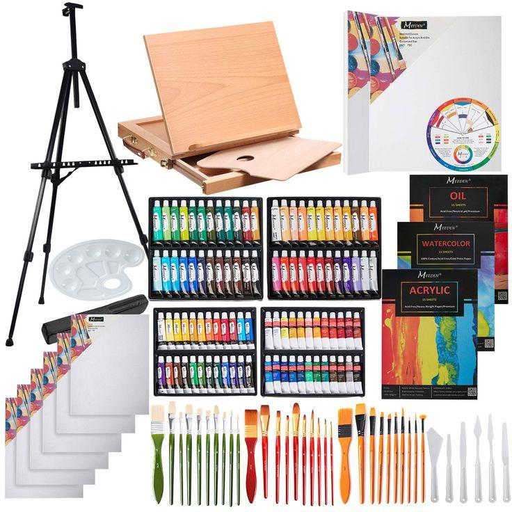 MEEDEN 148 Pcs Deluxe Artist Painting Set Paint set