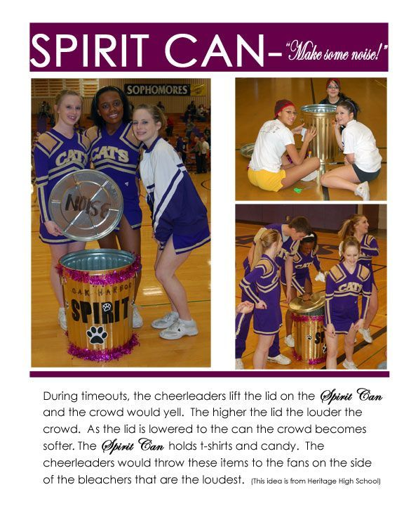 """If doing a sports party theme, decorate a trash can and fill it with give away items to be used as party favors - or while watching the """"game"""" on t.v.  Cute idea!:"""