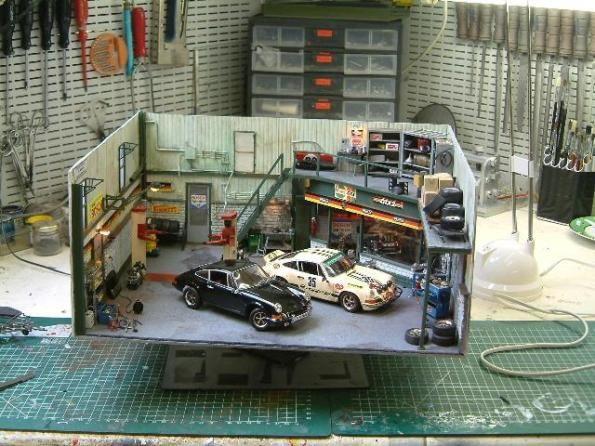 10 best images about porsche diorama on pinterest models for Garage auto star antony