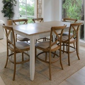 Extendable French chic table