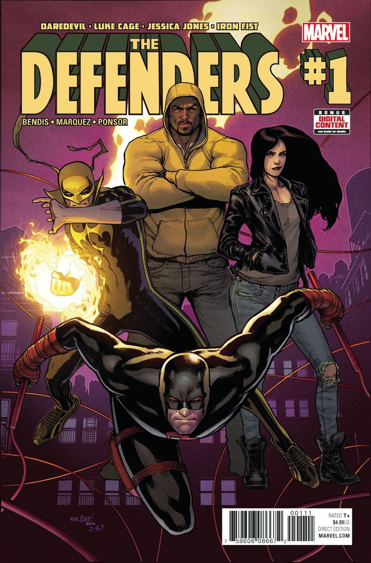 DEFENDERS #1  (W) Brian Michael Bendis (A/CA) David Marquez  Daredevil! Luke Cage! Jessica Jones! Iron Fist!