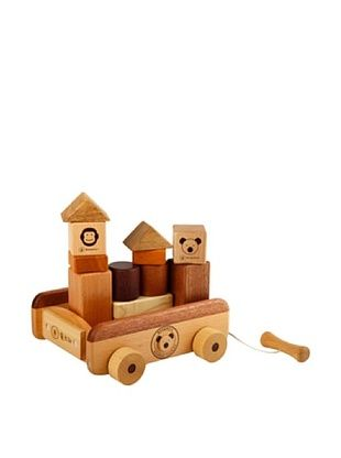 42% OFF Soopsori Wooden Blocks with Pull Wagon