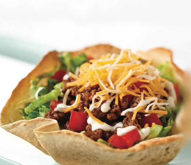 how to make taco salad shells in the oven