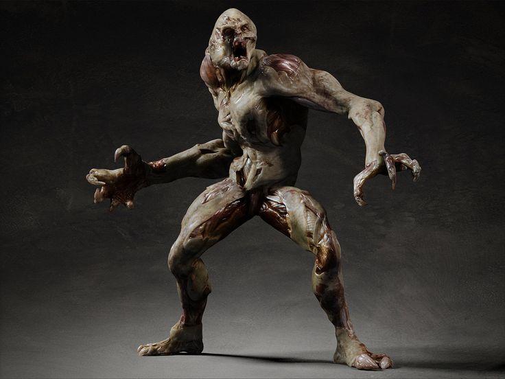 3d Model Rigging Skin Monster Design Pinterest