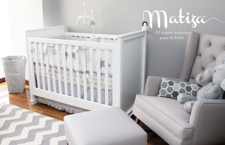 Diseño de cuarto y mobiliario por Matiza #nurserydecor