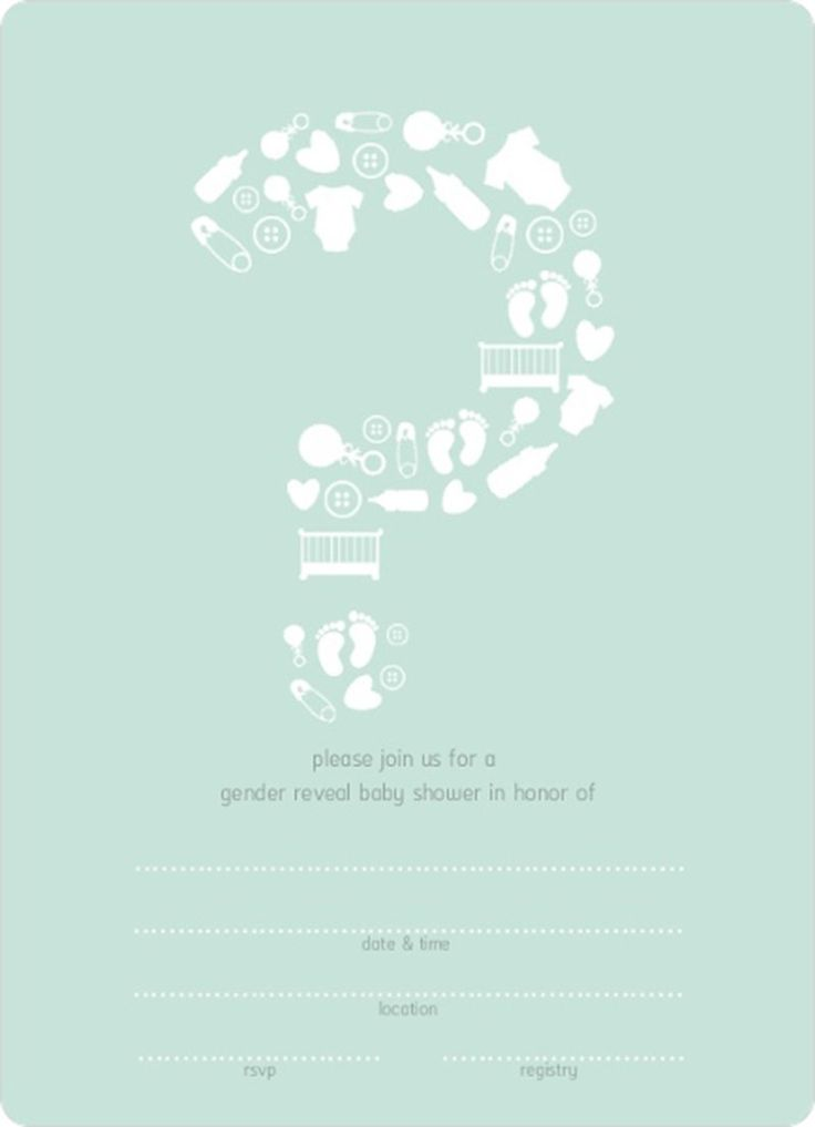 mint question mark gender neutral fill in blank baby shower invitation template sample design