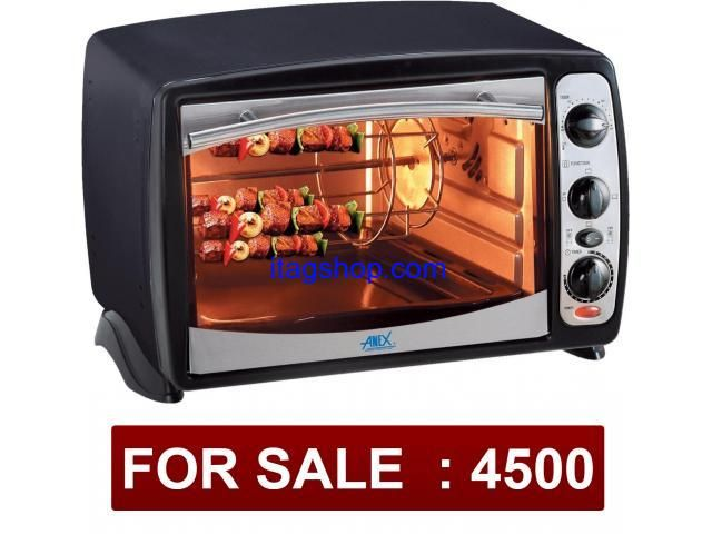 Its anex toster oven in good condition 3times use only. black color.