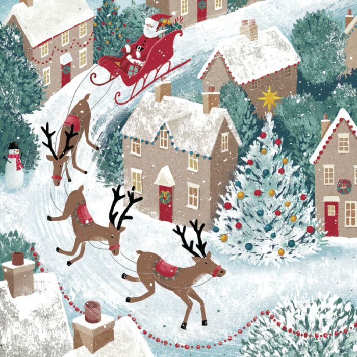Andrew Smith - Santa_Scene_Christmas riendeer_Snowy_Andrew Smith