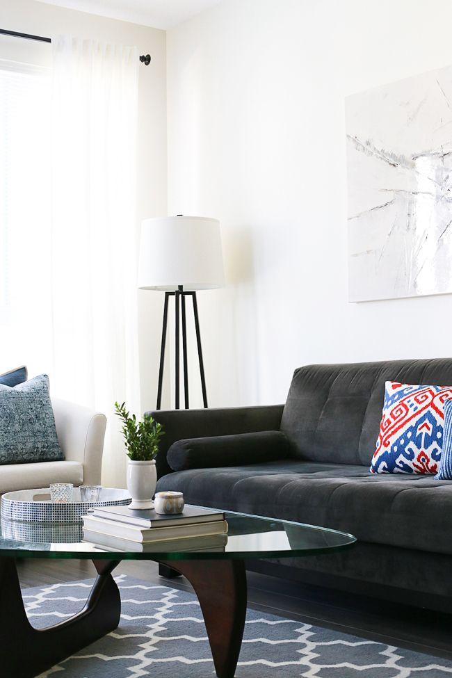 Girl & Closet. Our Coastal Inspired Living Room!