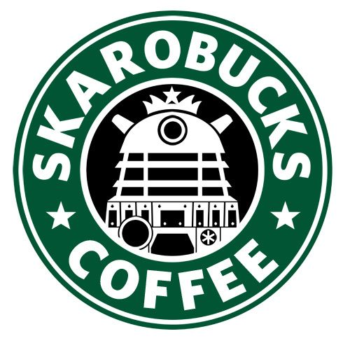 """print this off and mod podge it on a coffee mug or cup and you have an instant Doctor Who """"Skarobucks"""" Coffee ! non-white girl , it's all geeky girl. easy DIY *Screams*"""