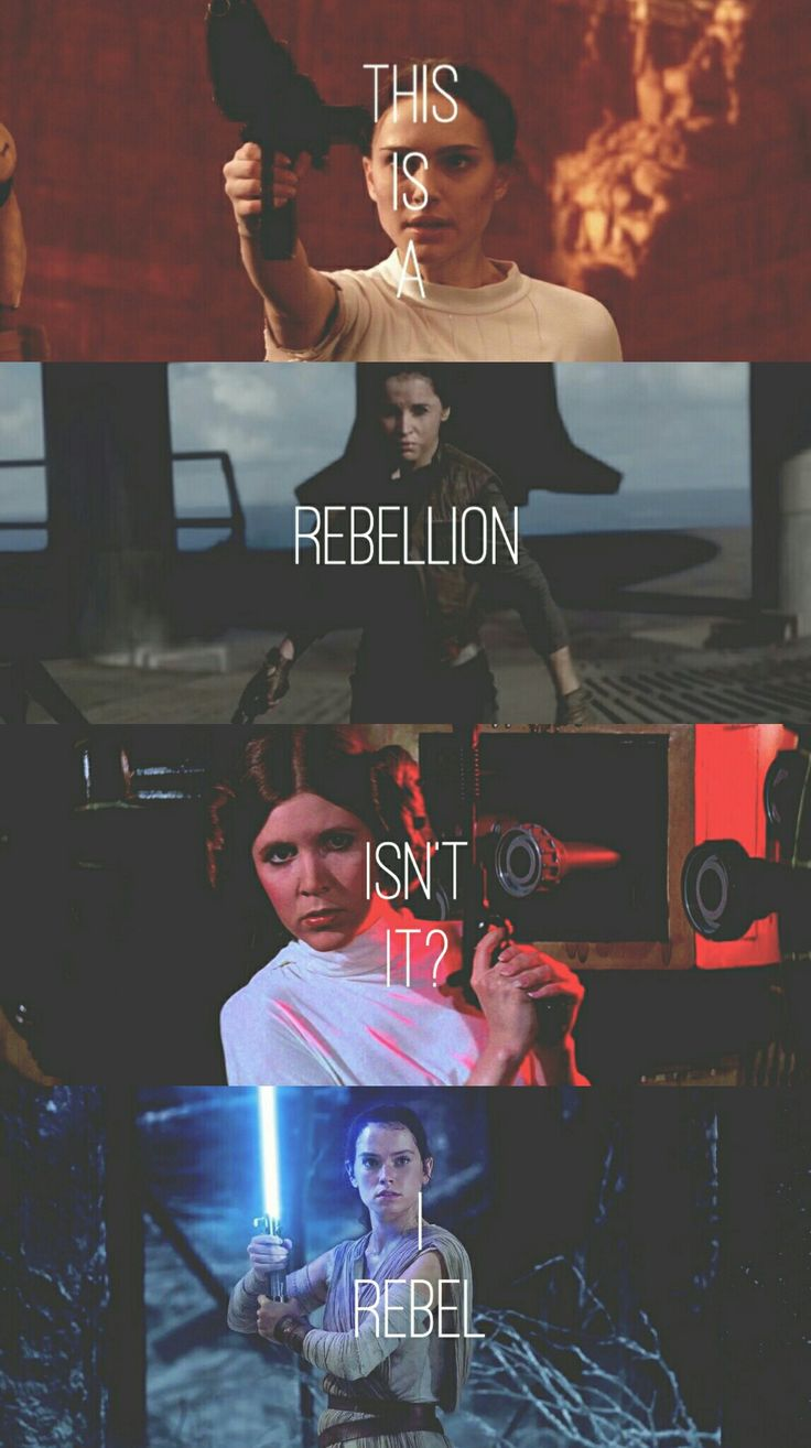 Star Wars Ladies | Padme, Leia, Jyn, and Rey | Rogue One | The Force Awakens | Tumblr