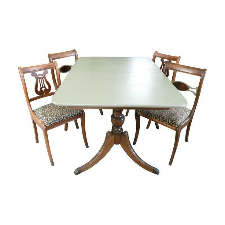 Duncan Phyfe Dining Room Set: Duncan Phyfe Dining Set With 4 Chairs