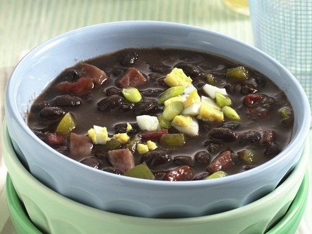 black bean soup spicy black and red bean soup cuban black bean soup ...