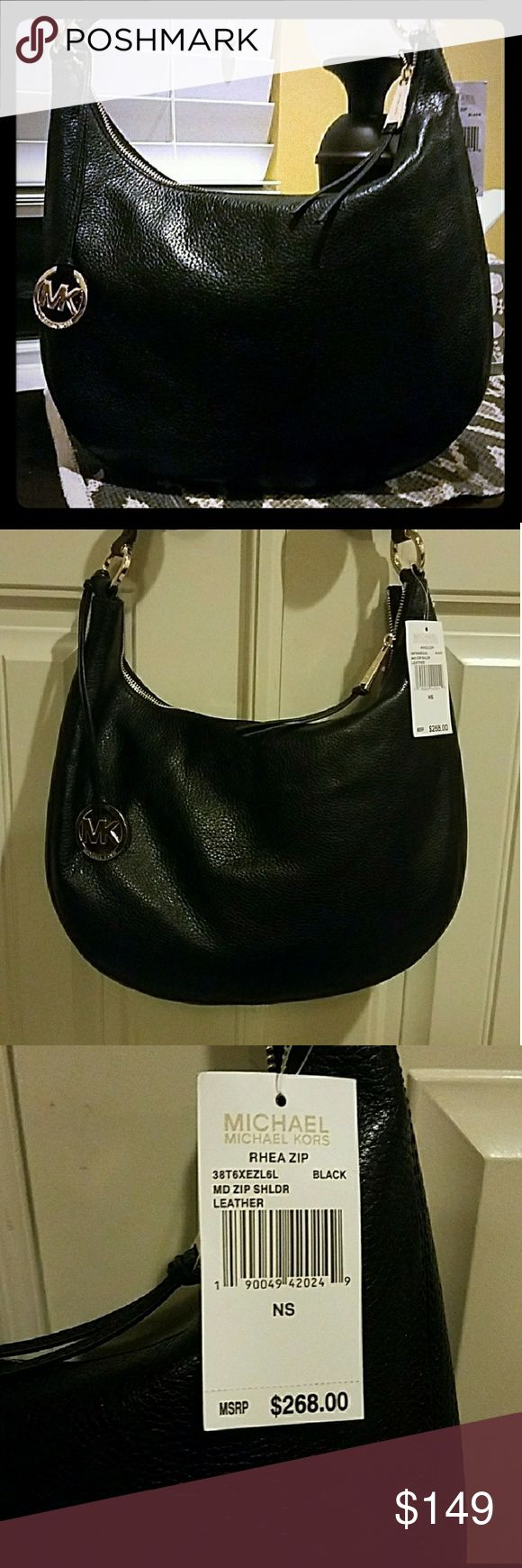 """🎉💕Nwt Beautiful MK purse💕🎉 Beautiful pebbled leather medium size MK shoulder purse with MK chain. Authentic tags from store. Very chic. Perfect Christmas present! 13 1/2"""" w x 9 1/2 l  Final ⬇ Michael Kors Bags Shoulder Bags"""