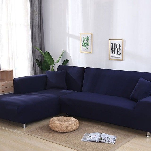 Grey Color Elastic Couch Sofa Cover Loveseat Cover Sofa Covers For Living Room Sectional Sofa Slipcover Armchair Furniture Cover Color Navy Blue Specification 1 Sectional Sofa Slipcovers Sofa Covers Sectional Sofas