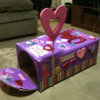Valentine's Day mail box