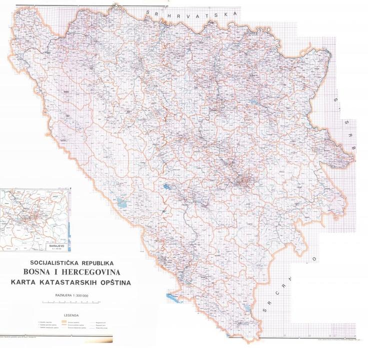 Historija Bosne i Bošnjaka • Pogledaj temu - Katastarska karta socijalisticke republike BiH